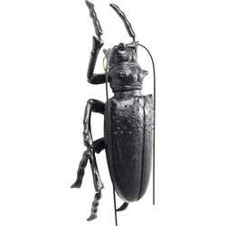Wall Decoration Longicorn Beetle Matt Black