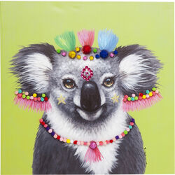 Picture Touched Koala Pom Pom 70x70cm