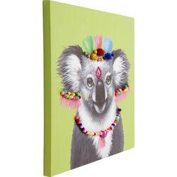 Picture Touched Koala Pom Pom 70x70cm