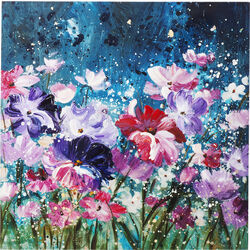 Picture Touched Flower Garden 100x100cm