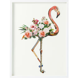 Picture Frame Art Flamingo 100x75cm