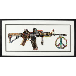Picture Frame Art Peace No War 50x100cm