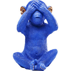 Money Box Monkey Mizaru Blue
