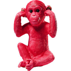 Money Box Monkey Kikazaru Red