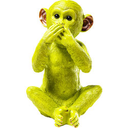 Money Box Monkey Iwazaru Lime