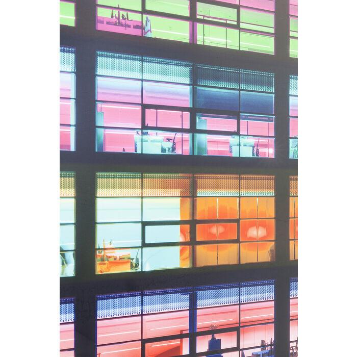 Tableau miroir frame office pink 80x80cm kare design for Tableau miroir design