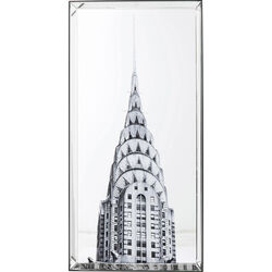Picture Mirror Chrysler Building 120x60cm