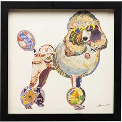 Cuadro Art Poodle 41x41cm