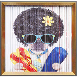 Picture Frame Art 3D Funky Dog 43x43cm