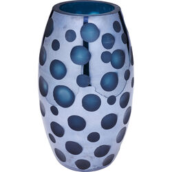 Vase Blue Dots 26cm