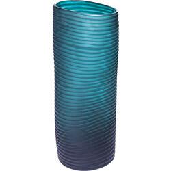 Vase Swirl Turquoise 36cm
