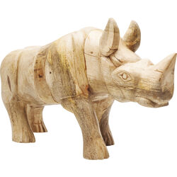 Deco Figurine Rhino Wood