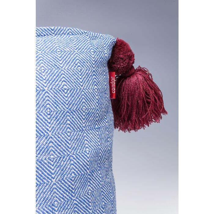 kissen louis pop blau 50x50cm kare design. Black Bedroom Furniture Sets. Home Design Ideas