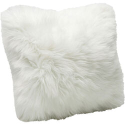 Cushion Fur White 40x40cm