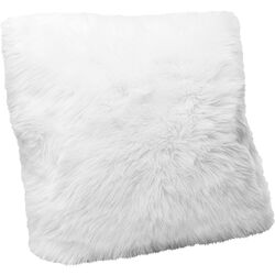 Cushion Fur White 60x60cm
