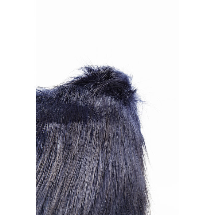 Kissen ontario fur dunkelblau 45x45cm kare design - Kissen fur loungemobel ...