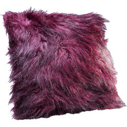Cushion Ontario Fur Dark Red 45x45cm