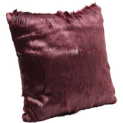 Cushion Ontario Fur Dark Red 60x60cm