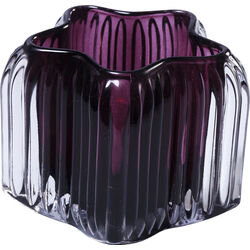 Tealight Holder Star Purple 8cm