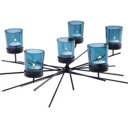Tealight Holder Micado Turquoise Six