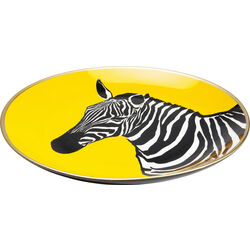 Piatto decorativo Zebra giallo Ø30cm
