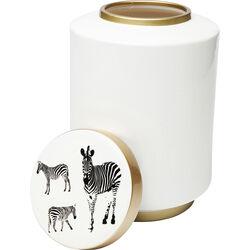 Deco Jar Zebra White 33cm