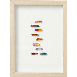 Picture Frame Rainbow Stones