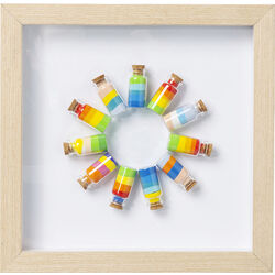 Picture Frame  Rainbow Jars Circle