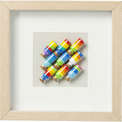 Picture Frame  Rainbow Jars Square