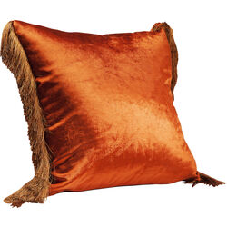 Cushion Fringes Brown 45x45cm