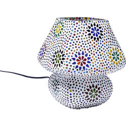 Table Lamp Mosaic Flowers Colore 22cm