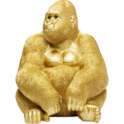 Deco Figurine Monkey Gorilla Side XL Gold