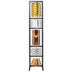 Floor Lamp Parecchi Glamour Black Small 180cm