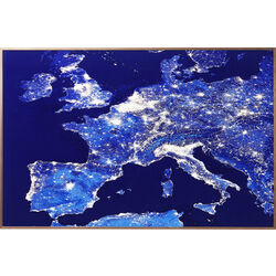 Picture Frame Alu Europe At Night 60x90cm