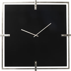 Wall Clock Black Mamba Chrome