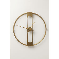 Wall Clock Clip Gold Ø60cm