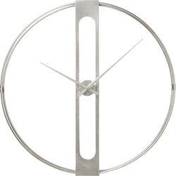 Wall Clock Clip Silver Ø60cm