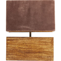Table Lamp Rectangluar Wood Mocca