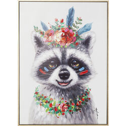 Картина Touched Flowers Raccoon 72x52cm