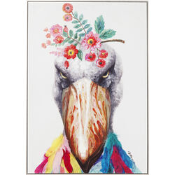 Picture Touched Flowers Bird 102x72cm