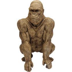 Deko Figur Gorilla Gold 80cm