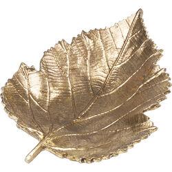 Deko Schale Leaf Gold Klein