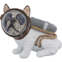 Deco Figurine Space Dog Sitting 18cm