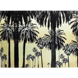 Picture Glass Metallic Palms 120x180cm