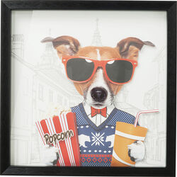 Picture Frame Art Cinema Dog 50x50cm