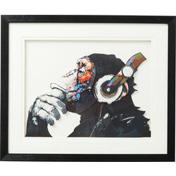 Picture Frame Art Monkey Musik 60x50cm