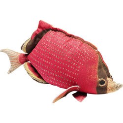 Cushion Shape Fish Dots Red 33x62cm