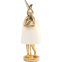 Table Lamp Animal Rabbit Gold 68cm