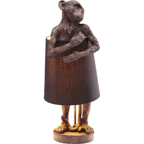 Lámpara mesa Animal Monkey marrón negro