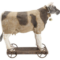 Deco Figurine Cow On Wheels
